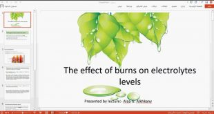 In the pharmaceutical chemistry branch, a seminar was held under the title(the effect of burns on electrolytes levels).