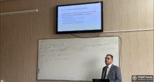 أقيمت حلقة نقاشية في فرع الصيدلة السريرية بعنوان (تعزيز الثقة بلقاح COVID- 19) من قبل رئيس الفرع الأستاذ المساعد الدكتور أياد علي الأمين.